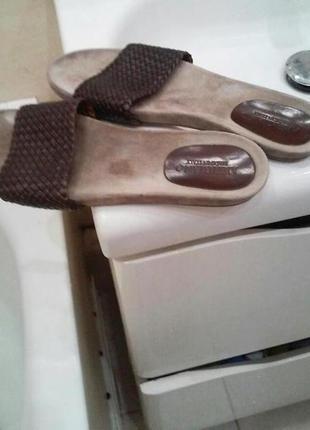 Шикарные кожаные шлепки италия от artigiano