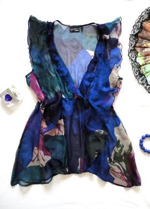 Блуза next шифон вискоза воланы, яркая и воздушная