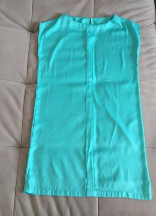 Бирюзово-мятное платье