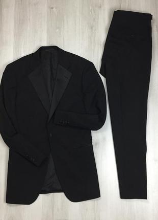 F9 n9 черный смокинг костюм полушерстяной 1860 menswear классический/приталенный