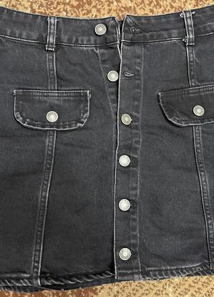 Продам джинсовую черную юбку