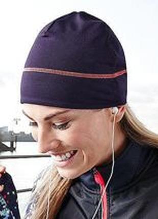Шапка, спортивная, функциональная, фиолетовая, флисовая, термо, tcm tchibo.6 фото