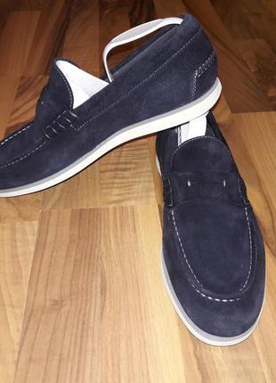 Туфли лоферы hogo boss кожаные 100 % оригинал
