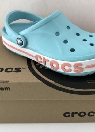 Кроксы crocs bayaband ice blue melon 🍈