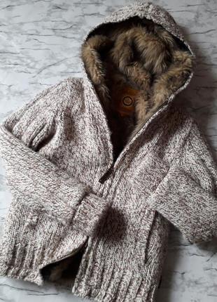 Вязаная шерстяная  куртка blend