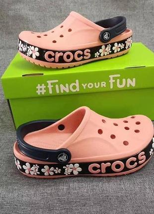 Кроксы crocs melon floral 💐