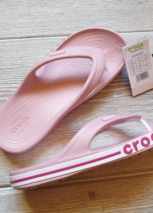 Кроксы crocs bayaband flip petal pink 📍
