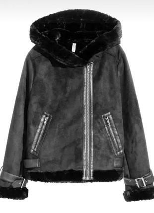 Стильная и модная куртка - авиатор h&m размер l