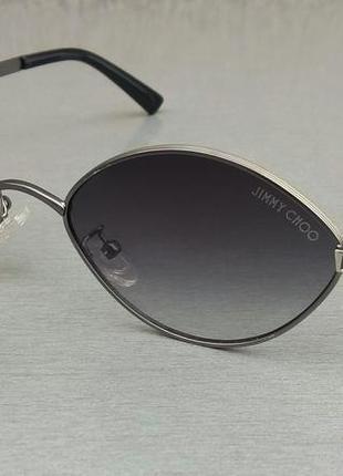 Jimmy choo стильные узкие женские солнцезащитные очки серые с градиентом