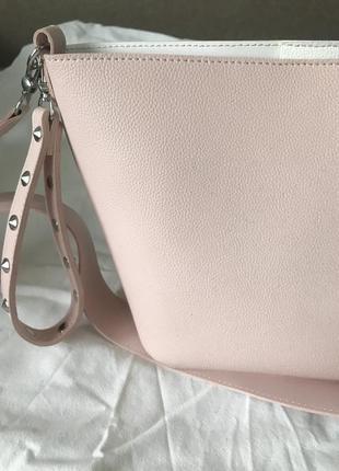 Практичная сумка-ведро, двустороняя кроссбоди сумочка на длинном ремешке