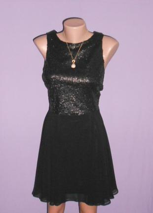 Atmosphere роскошное вечернее платье с пайетками и красивой спинкой!12 размера