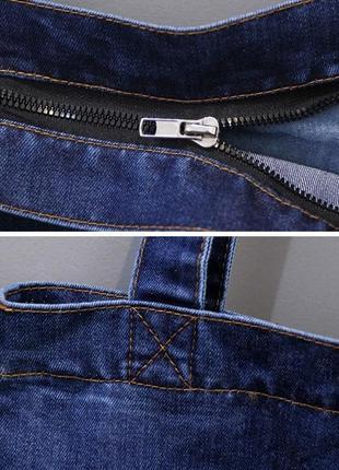 Женская джинсовая сумка шопер голубая синяя8 фото