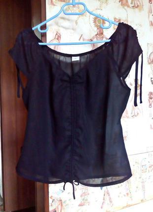 Прозрачная блузка с завязками