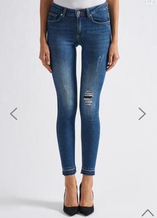Zoe karssen джинсы скини высокая талия посадка