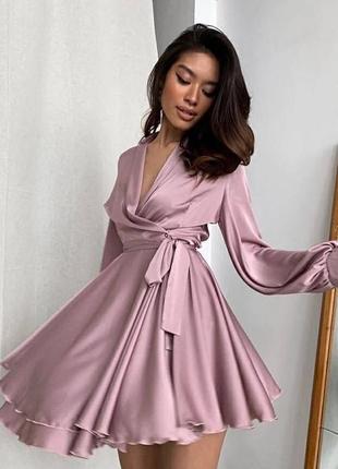 Шёлковые платья, короткое платье, платье на запах
