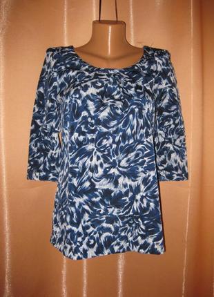Классная блузка с рукавом ¾, км0863 в офис на работу