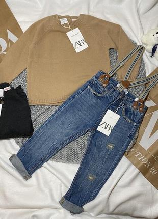 Джинсы zara 3 4 года 98 104 см брюки штаны джинси zara h&m
