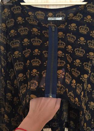 Блуза с черепами crafted