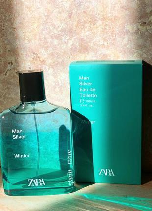 Духи zara silver winter/чоловічі парфуми /туалетна вода /туалетная вода