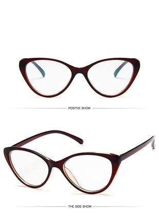 Очки кошечки лисички для компютера от синих бликов чтения с экрана оправа окуляри