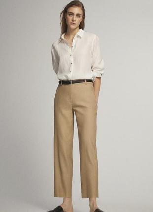 Штани брюки massimo dutti  розмір xs размер 34 колір цвет camel