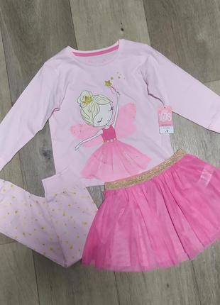 Шикарные пижамки matalan фатиновая юбочка малышкам