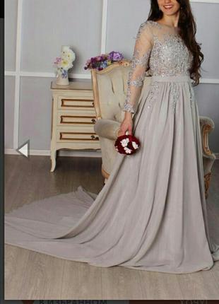 Asosвыпускное вечернее длинное макси платье asos с длинным шлейфом