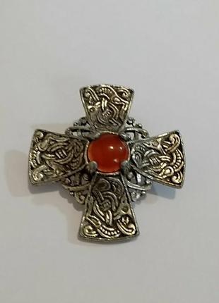Miracle винтажная брошь подвеска в форме  кельтского креста