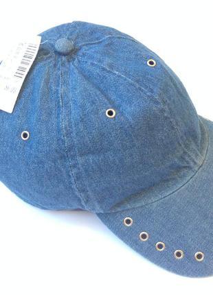 Новая джинсовая кепка размер универсальный