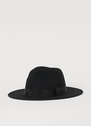 Черная шляпа из шерстяного фетра h &m
