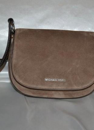 Замшевая кожаная сумочка кроссбоди michael kors, оригинал