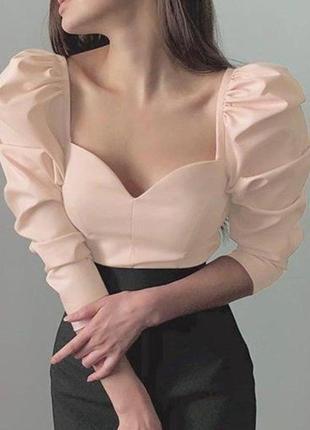 Блуза топ жіноча з пишними рукавами