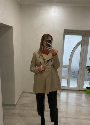 H&m-плащ-трэнч (фасона платье)плащ средней длины