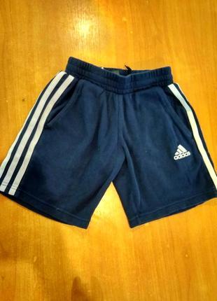 Шорты коттоновые adidas oригинал на 6-7лет темно синие