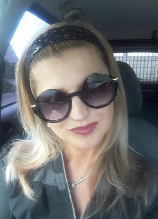 Новые крутые солнцезащитные очки круглые, черные