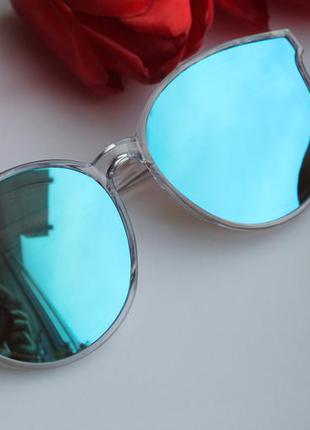 Новые солнцезащитные очки голубые, новинка 2017