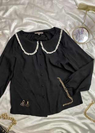 Рубашка с модным воротником