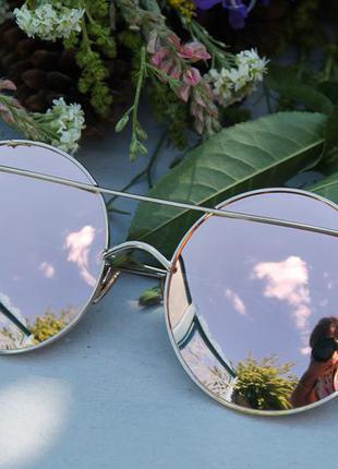 Новые модные круглые солнцезащитные очки, розовая пудра