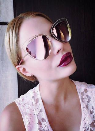 Новые солнцезащитные очки, новинка 2017, розовые