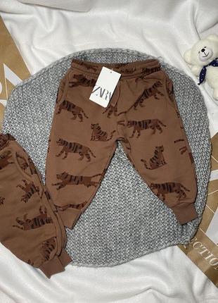 Штаны zara 12 18 24 мес 80 86 92 см штаны спортивные zara h&m брюки штанишки