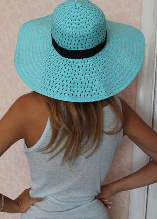 Новая летняя шляпка с полями, дешево!