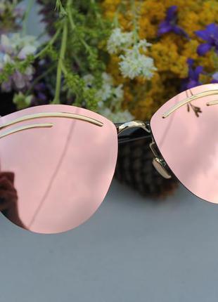 Новые красивые солнцезащитные очки, розовая пудра