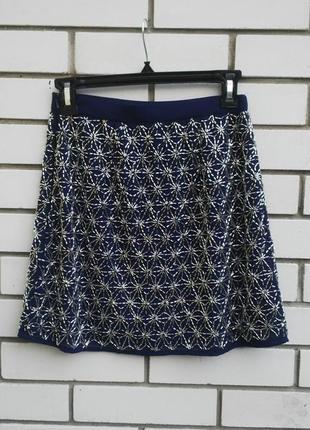 Очень красивая,нарядная,вечерняя юбка с вышитым бисером topshop