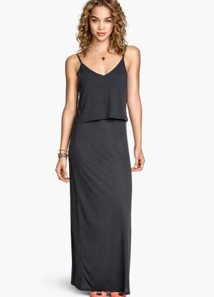 Платье миди h&m, xs, б/у