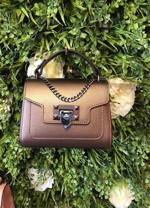 Женская кожаная сумка италия кроссбоди клатч на цепочке