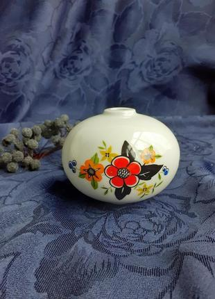 Ваза шар ссср фарфоровый с ручной росписью декор советская