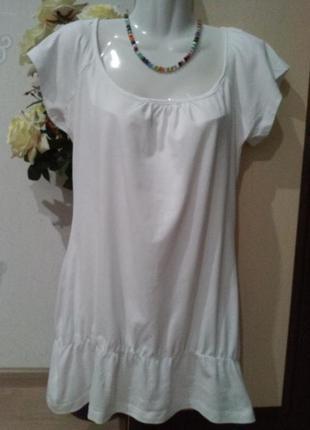 Трикотажная блуза. туника. футболка.