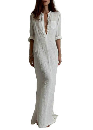 Платье рубашка в наличии м  белое