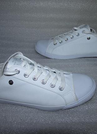 Белые кеды эко- кожа ~dunlop~ оригинал р 39-40