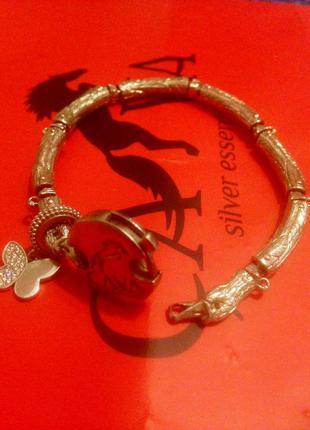 Статусный серебряный браслет cava лебедь